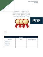 Shool Holiday English Practice y4 Unit 1