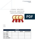 Shool Holiday English Practice y5 Mac 2018
