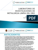 Laboratorio de Investigaciones de Metalurgia Limpia Del Oro