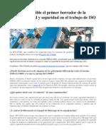 20140718_Primer Borrador de La Norma de Salud y Seguridad en El Trabajo de ISO Disponible