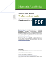Trad en Inglés Plan de Estudios 2002