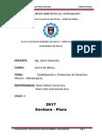 Estabilización y Protección de Desechos MineroMetalúrgicos