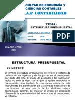 TEMA N° 09 - ESTRUCTURA PRESUPUESTAL