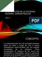 Organización de La Sociedad Anónima