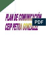 plan de comunicación CEIP PETRA GONZÁLEZ