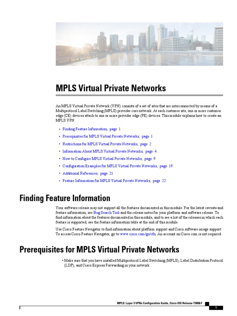 Mp Cfg Layer3 VPN | Virtual Private Network | Multiprotocol
