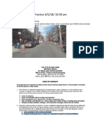 NYC Code of Conduct Violation / Crew Parking