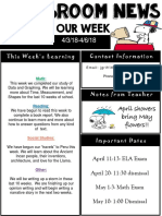 weekly newsletter  powerpoint  april 6