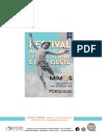 Programme Mimos 2018
