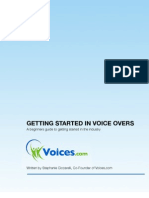 Get Your Voice Over Career Started