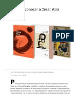 5 Libros Para Conocer a César Aira - LA NACION