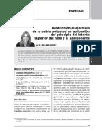 Restricción al ejercicio de la patria potestad en aplicación del principio del ISNA.pdf