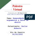 Respondendo Aos Argumentos a Favor Do Aborto