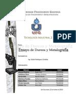 Ensayo de Metalografia y Dureza