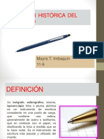 Evolución Histórica Del Bolígrafo