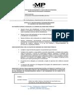 Declaración Articulo 77 Ley Organica Mp