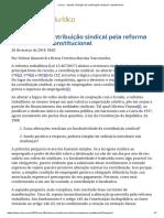 ConJur - Opinião_ Extinção Da Contribuição Sindical é Constitucional