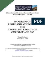 Bankrot, Reorganizacija Nasledje Krajslera i Gm-A