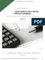 A Contribuição Sindical Sob o Viés Da Reforma Trabalhista _ JOTA