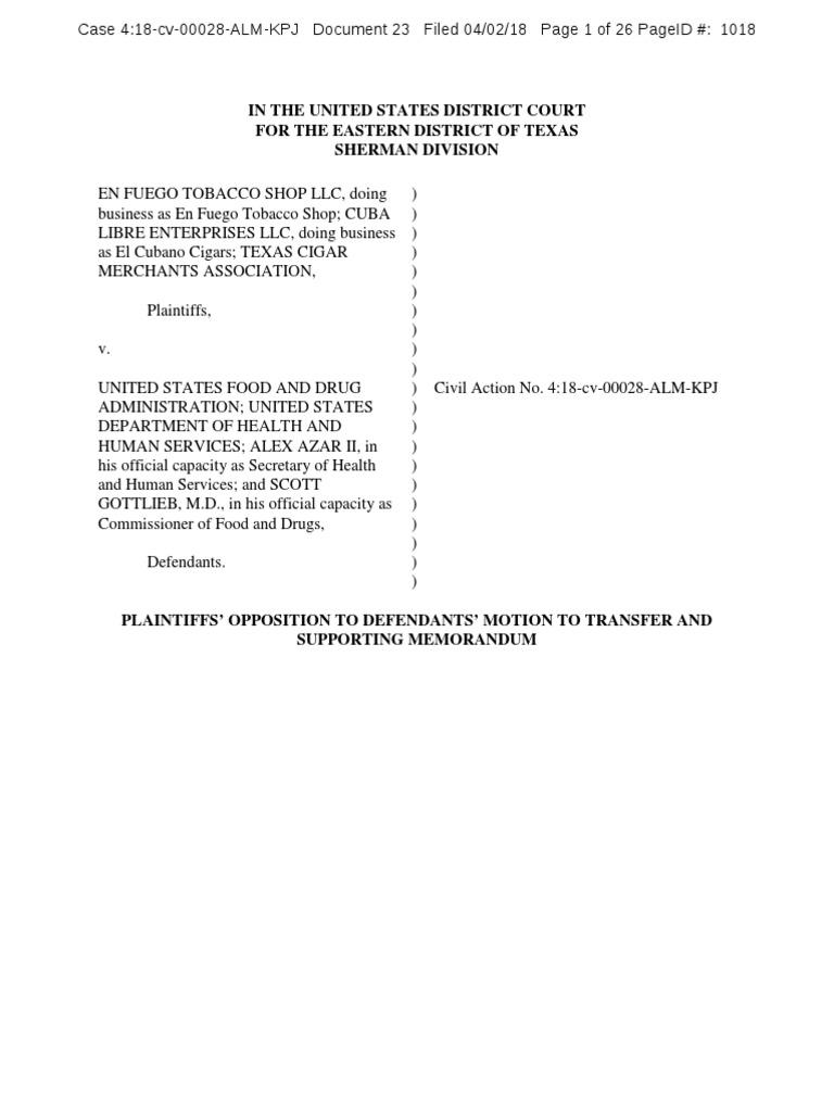 E D  Tex  18-cv-00028 dckt 000023_000 filed 2018-04-02