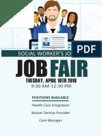 Social Worker Job Fair