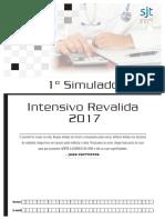 1 Simulado Intensivo Revalida 2017 Gabarito Comentado