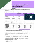 Practica individual Análisis de Cargas y Costos de Una Instalación Eléctrica
