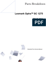 Lexmark OptraS 1275 Part Diagram