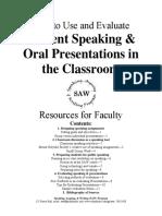Evaluating Speaking Guidelines Spring2006