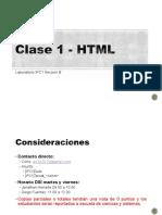 Clase 1 - HTML