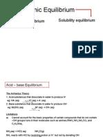 Acid Ionic Equlbrm