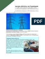 Sistema de Energía Eléctrica en Guatemala