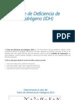 Índice de Deficiencia de Hidrógeno (IDH)