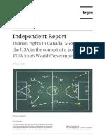 Ergon Human Rights Report for United Bid 2026 Re FIFA World Cup United Bid