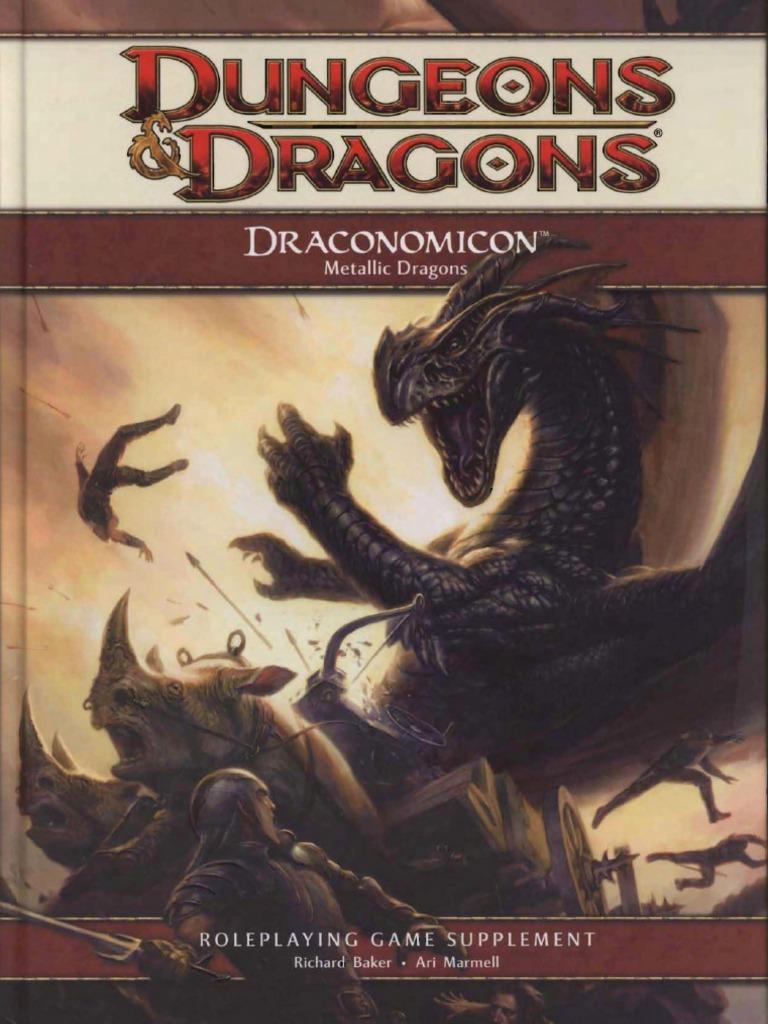 D&D 4 0 - Draconômicon II Dragões Metálicos (2) | Dungeons