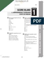 IAE CONCOURS Comprehension Et Expression Ecrite en Francais Test Blanc 2014