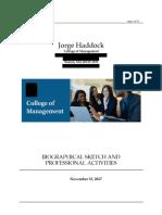 Currículum de Jorge Haddock