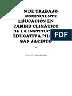 Plan de Trabajo Del Componente Educación en Cambio Climatico