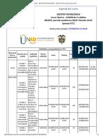 Agenda - Gestión Tecnológica - 2018 i Periodo 16-01 (Peraca 471)