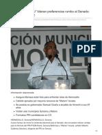 4/Abril/2018 Sylvana y Maloro lideran preferencias rumbo al Senado Gilberto Gutiérrez