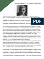 Lacan, J. - Función y Campo de La Palabra y Del Lenguaje Palabra Vacía y Palabra Plena (2)