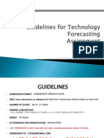 Guidelines on Technology Forecasting Submission