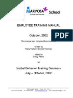 Training Manual Autism