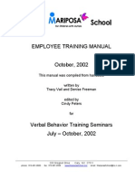 Training Manual Autism
