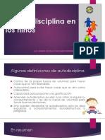 La Autodisciplina en Los Niños