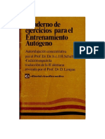 Schultz Johannes Heinrich - Cuaderno de Ejercicios Para El Entrenamiento Autogeno