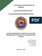 Estudio de Rendimiento y Eficiencia de Los Equipos de Perforación y Acarreo Con El Sistema de Ondas Doppler