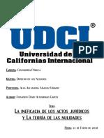 2018 - 01 - 21 DDLN (Ineficacia de Los Actos Jurídicos y La Teoría de Las Nulidades)