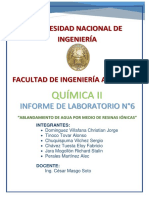 Informe 6 Quimica II