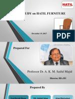 Case Study on HATIL Furniture